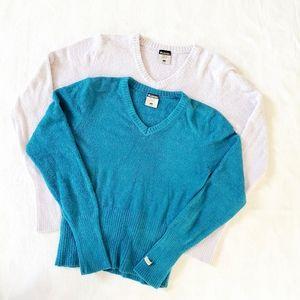 Columbia fleece sweater v neck bundle